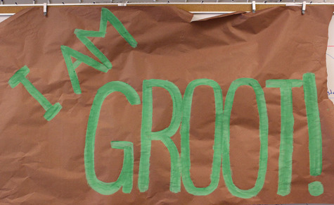 AHS Leadership has created a poster symbolizing a memorable line from the movie Guardians Of the Galaxy.
