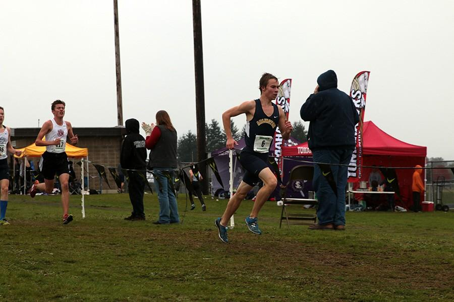 Senior Pieter Andrews competed in the League Championships Saturday, October 24, in Lakewood.