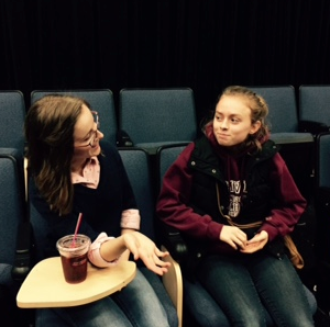 Emily Johnson ('16) and Mikelle Kelly ('17) discuss their goals for Arlington's upcoming play, The Crucible. Kelly is the stage manager for the show, while Johnson will be starring in it.