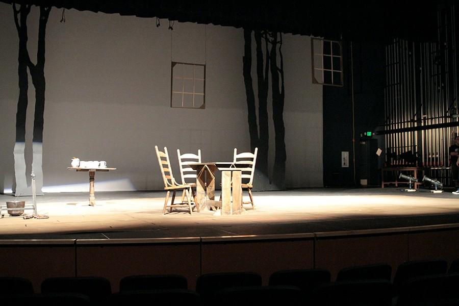 A set for the fall play, The Crucible.