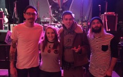 Sami Balcos ('16) with the members of Never Shout Never.