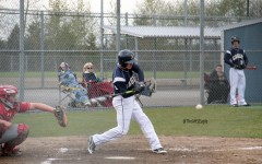 Trevor Kazen (18) prepares to hit the ball during a game against Stanwood on April 5th.