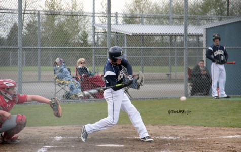 Trevor Kazen ('18) prepares to hit the ball during a game against Stanwood on April 5th.