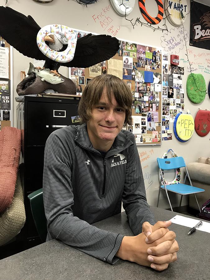 Chance Pearston ('20) advises that freshmen