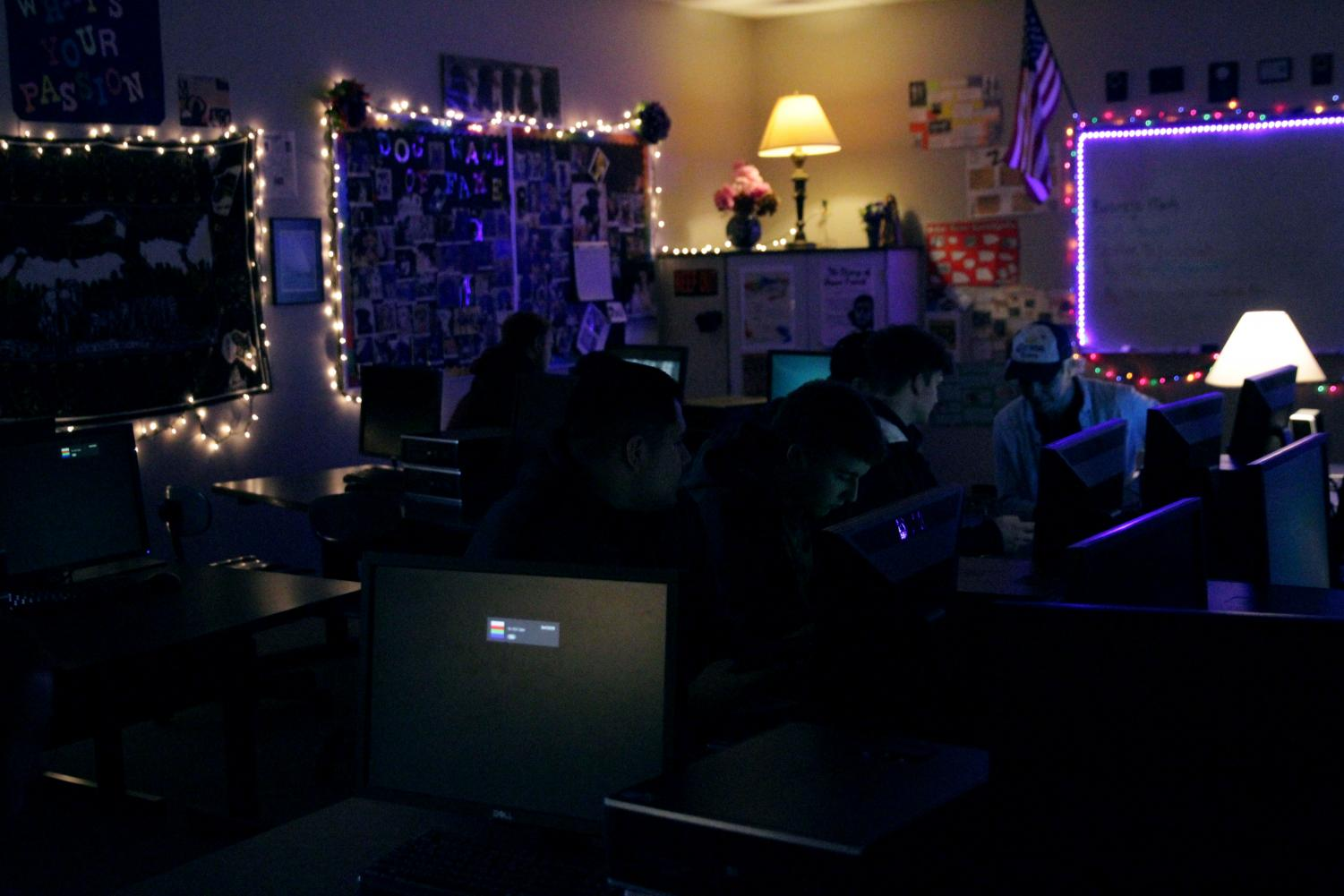 Mrs. Hatfield's room has several computers, and most English rooms have Chromebook carts. The school uses the internet as a tool in several classes.