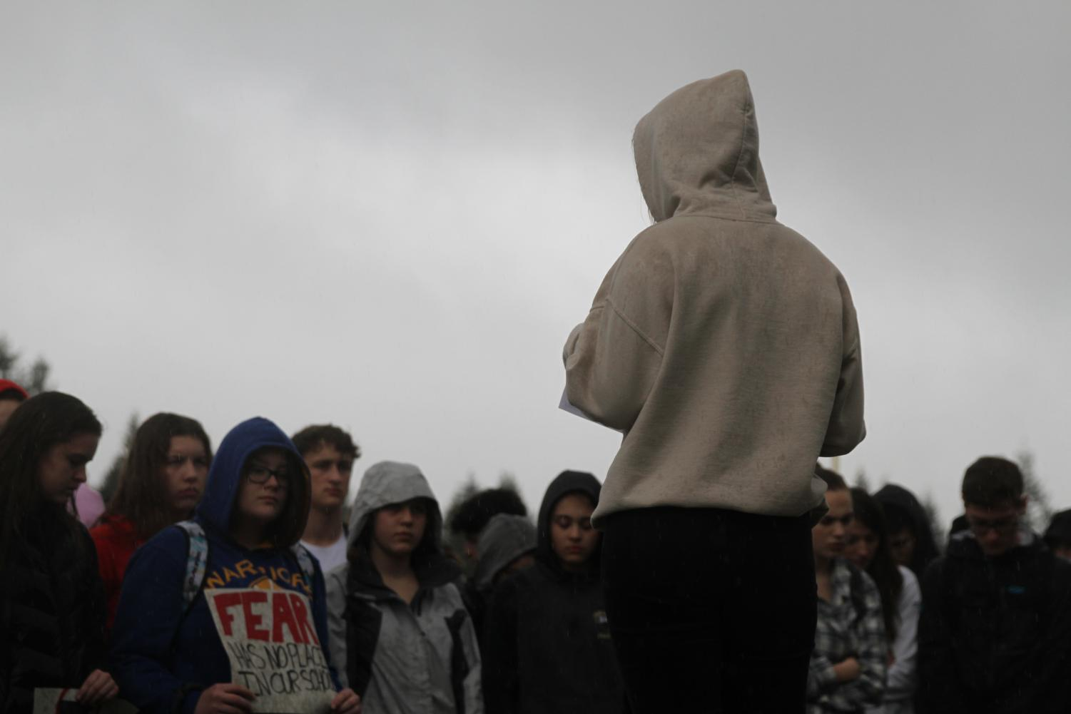 In March of 2018, students gather around in protest of the senseless violence