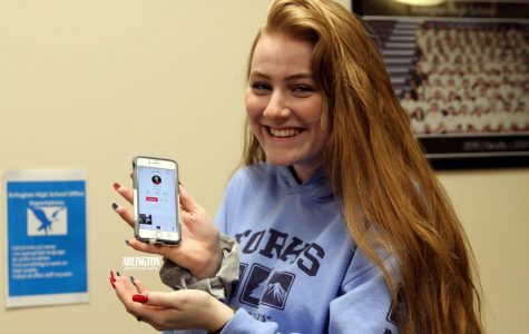 Nanna Myers (12) shows off her popular Tik Tok account. Myers said