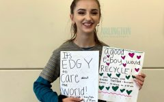 """Ivy Ewing, a senior at Arlington Highschool plays many roles at AHS, but one she's most passionate about is Ecology Club. As president, she is dedicated to helping the environment and wants you to be involved alongside her. When it comes to the environment on a global scale Ewing says, """"We set examples for other countries, if the U.S. doesn't care than others won't care."""""""
