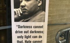 A poster of MLK with his quote,
