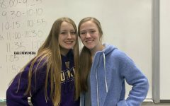 New ASB president, Heather Broyles, and Treasurer Paige Richards pose together, excited for the next year.