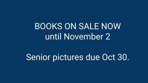 Yearbooks on sale through November 2
