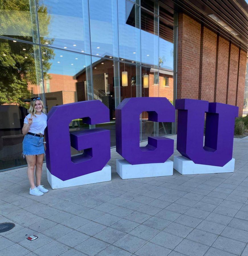 Annika Sjolund has committed to Grand Canyon University in Arizona. She visited campus in November.