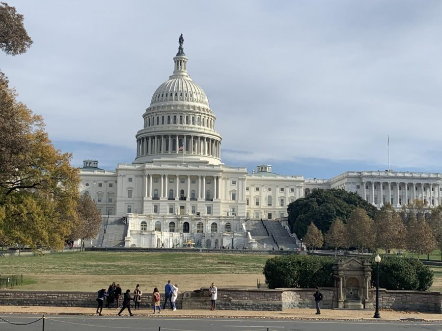 Eight Arlington High School journalism students traveled to a journalism convention in Washington DC in November 2019. They were able to tour the Capitol Building on that trip.