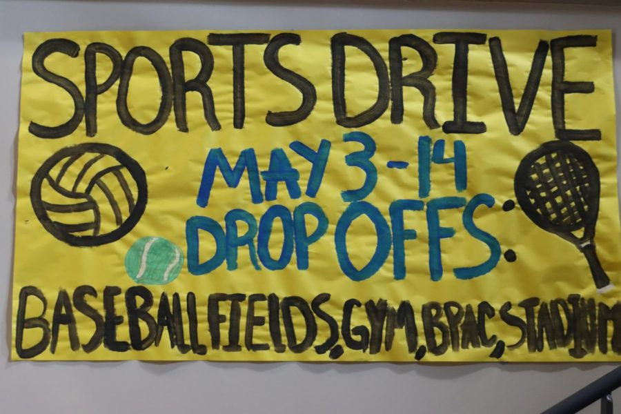Key Club is holding a Sports Drive to benefit the Boys & Girls Club.